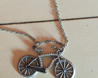 Quirky Bicycle Necklace