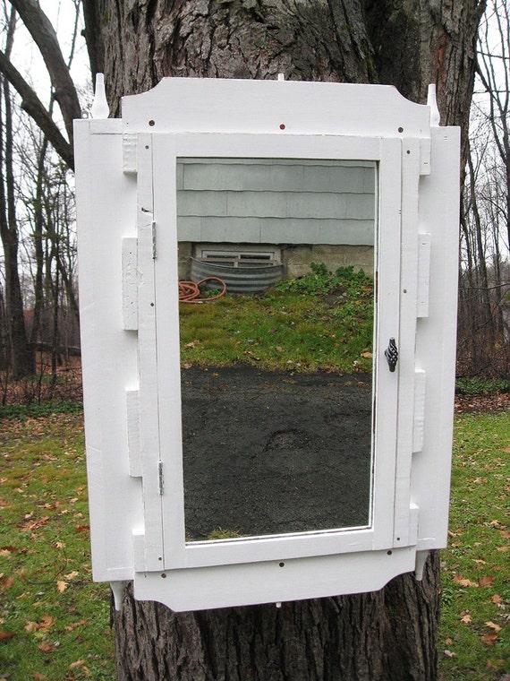 Rustic Primitive Bathroom Medicine Cabinet With Mirror