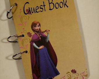 Guest Book, Anna Guest Book, Frozen Party,  Anna Birthday Green , Frozen Party Sign in Book, Frozen Birthday Guest Book, Frozen Party Decor
