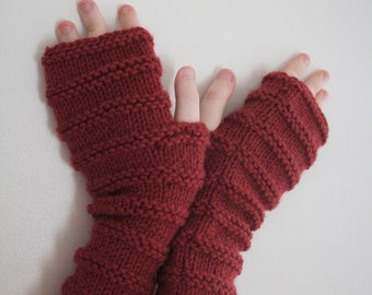 Red Maroon Gloves Fingerless Texting Photographers Hockey Gloves Winter Accessories