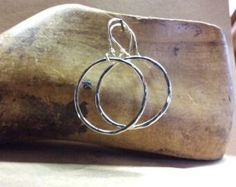 sterling hoop earrings, sterling dangling earrings
