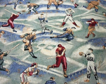 Baseball Players Fabric The Game of Baseball New By The Fat Quarter