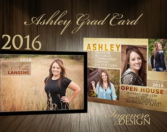 Graduation Invites, Graduation Announcement, Senior Announcements, Graduation Party Invitations, Graduation Invitation Templates, Ashley2016
