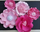 RTS Large Paper Rose Paper Flower Photo Prop Backdrop Shades of Pink Flowers RESERVED