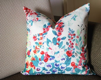 Luxurious Floral Pillow Cover,Colourful Floral Pillow Cover,Watercolor Floral Pillow Cover,Outdoor pillows,flower pillow,Pillows 375