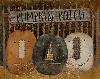 Pumpkin Patch, Jack-O-Lanterns, 8x10 printable download