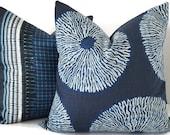 Shibori Pillow - Indigo Shibori Pillow - Tie Dye Pillow - Shibori Sol Pillow - Shibori Pillow Shams - Shibori Cushions - Indigo Couch Pillow