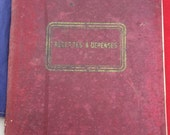 Vintage French 1930 Repertoire/ accounts ledger / journal / diary