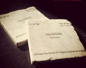 Patrick Bateman MURDERS & EXECUTIONS Business Card Tumbled Marble Coaster Single, Set Of 2 or 4American Psycho
