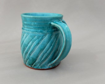 Washing Cup - Ceramic - Turquoise Judaica Pottery - Negel Vasser
