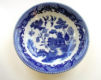 One Vintage Japanese BLUE WILLOW Transferware Bowl Replacement China
