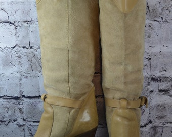 vintage The Wild Pair Pontiac tan suede leather over the knee high boots 6.5B