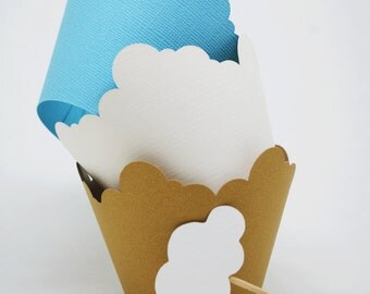 Cloud Cupcake Wrappers In your choice of color Qty 12
