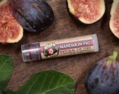 Lip Tint Herbal MANDARIN FIG Natural with Alkanet and Pink Clay - Mica Free - .15oz stocking stuffer