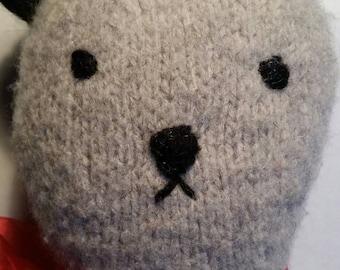 Big Hand Knit Wool Teddy Bear