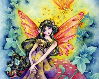 "Fairy Fantasy Art Print ""Faerie Light"" Limited Edition Signed Art Print"
