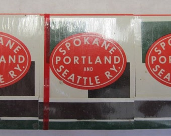 CLEARANCE - S.P. & S.Ry. Spokane Portland and Seattle Railway Matches - 6 Pack - in Cellophane -  Railroad