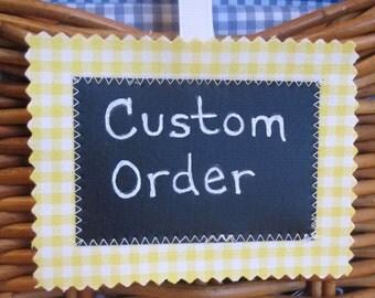 Custom Order/Toddler Bib/12-24 mo./Foraging for Funghi in Multi/Organic Fleece Back