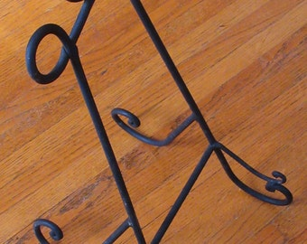 Vintage Large Decorative Wrought Iron Book Stand