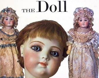 The Doll Book by Carl Fox / Red Velvet Hardcover w Dustjacket / Illustrated / Collectable / Reference