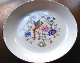 Vintage Hammersley Bird of Paradise Round Sweet Dish