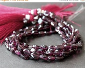 CLEARANCE SALE - Garnet Faceted 6 - 8mm Teardrop Briolette Gemstone Beads  - MINI Strand (7 Inches)