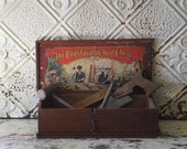 Antique Wooden Toy Tool Box The Boys Favorite Tool Chests No. 245