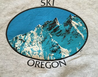 Vintage Ski Oregon Crew Neck Sweatshirt
