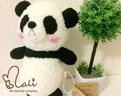 Reserved listing for Tin, newborn safe sock dolls, sock panda, panda soft toy, panda plush