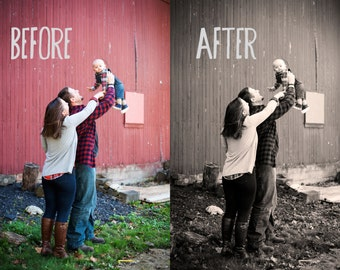 INSTANT DOWNLOAD- Black and White with Sepia Photoshop Action- Photoshop CC