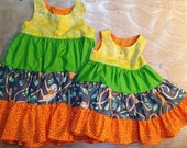 Two little monkey dresses reserved for Amber Banning!