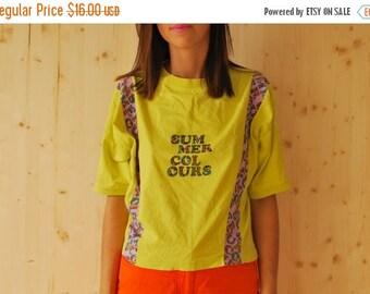 """SALE Vintage 90's """"Summer Colors"""" Print Tshirt tee top"""