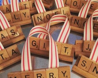 Vintage Scrabble Ornaments