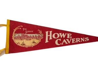 Howe Caverns Vintage Felt Flag