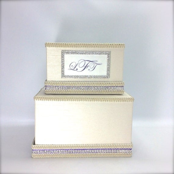 Wedding Gift Card Holder With Lock : ... Tier Wedding Card Holder Wedding Card Box Gift Card Box Secure Lock