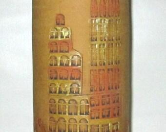 Bitossi italy pottery lamp , mid-century modern , designed by Aldo Londi Raymor