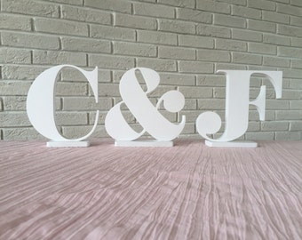 Letters initials, Wedding letters for top table - initials, Wooden initials,Wedding table letters, Wedding, Photo Prop, Wedding reception,