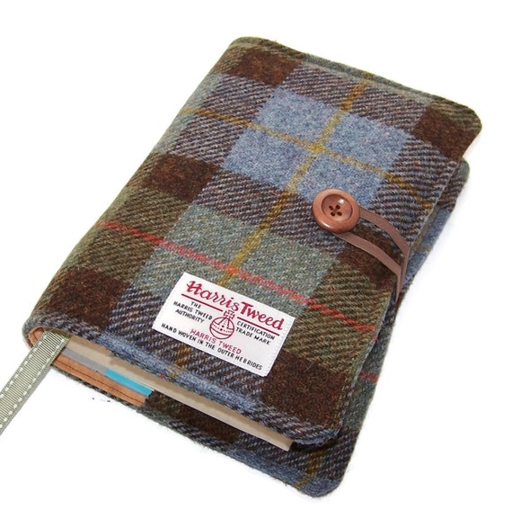 Fabric Book Covers Uk : Book cover harris tweed fabric bible by whimsywoodesigns