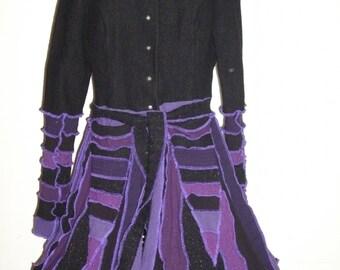 Custom Order for Darla Pixie Coat Purple and Black Sparkle