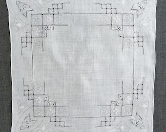 Vintage White Wedding Handkerchief 1152