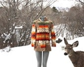 Women's vintage 1950's hand made Pendleton blanket coat / jacket size small
