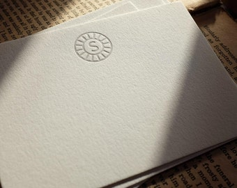 The Modern Notecard – Custom Letterpress Printed Notecard 50ct