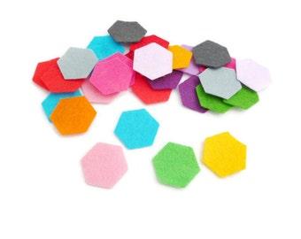Hexies Felt hexagon die cut felt shapes precut hexagon geometric shapes craft supplies Size 4