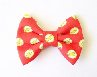 The Flash Handmade Bow (Handmade Bow / Bow Tie / or Headband)
