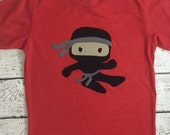 Ninja shirt boy's t-shirt  Karate Tae Kwon Do Birthday Tee Organic Blend Black Shirt boys martial arts present