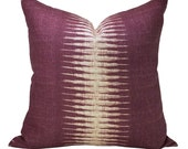 Peter Dunham Textiles Ikat pillow cover in Pasha