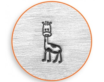 6mm Gerry Giraffe Design Stamp, African Animal Stamp, Metal Stamping, Use w/ Alphabet Stamp, Metalworking We Ship Fast!