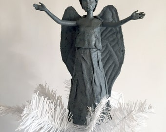 """Weeping Angel Tree Topper """"Don't Blink""""! (Arms open)"""
