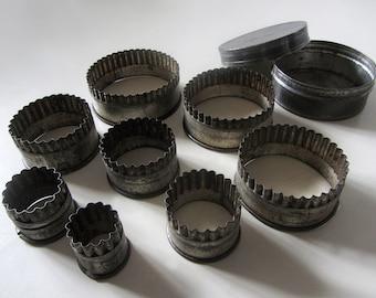 Vintage Metal Pastry Cutters