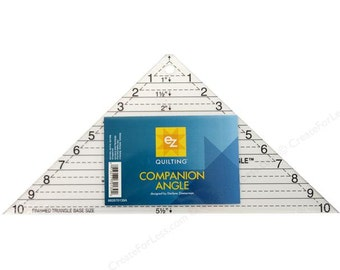 """Companion Angle Ruler by EZ Quilting, designed by Darlene Zimmerman, use with 1"""" to 10"""" strips, great for Quarter Square Triangles!"""